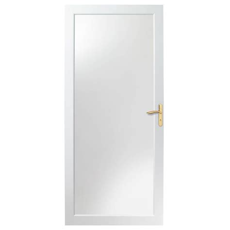 Andersen 4000 Door Installation by Andersen 36 In X 80 In 4000 Series White Fullview