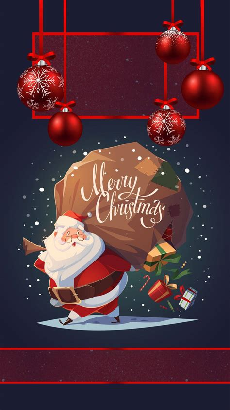 merry christmas santa iphone wallpaper iphone wallpapers