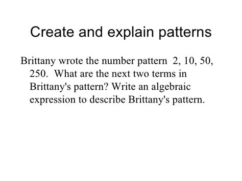 pattern rule algebraic expression patterns and algebra worksheets grade 3 number patterns