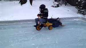 Backyard Zamboni Homemade Jaxen The Zamboni Kid Youtube