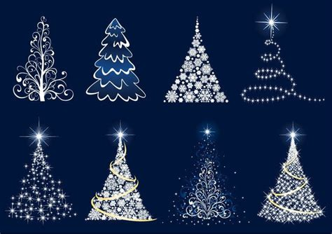 free christmas clip art abstract christmas tree vector