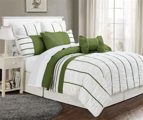 cheap 8 piece comforter set 8 piece queen villa sage and white comforter set discount