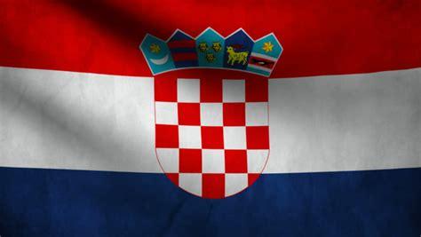 croatian  flag hd loop stock footage video