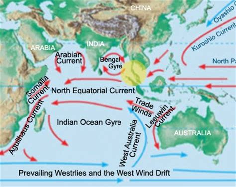 indian currents map indian gyre gallery