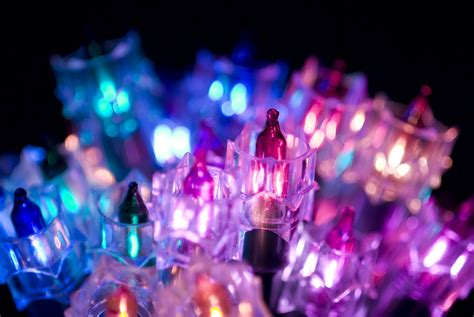 photo of purple christmas lights free christmas images