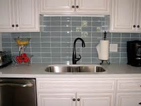 Glass Backsplash Kitchen Ocean Glass Subway Tile Subway Tiles