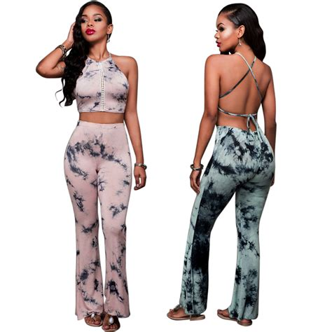 Fashion Belted Set Top Shorts Size S M 2017 rompers 2 set halter crop top and wide leg suit hollow out print