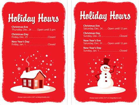 printable christmas hours sign bank holiday hours signs flickr photo sharing