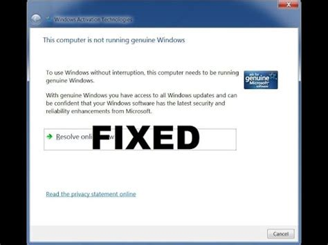 wallpaper for not genuine windows 7 how to fix windows pop up quot this computer is not running