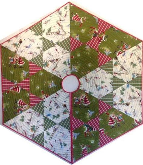 free quilt pattern hex christmas tree skirt free quilt