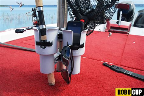 bass boat seat cup holders robocup patented portable caddy cl on cup rod