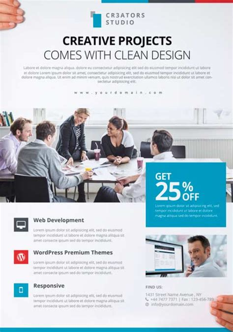 business flyer templates psd modern business free psd flyer template for photoshop