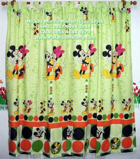 Gorden Anak Mickey Mouse Gorden Motif Kartun Disney Mickey Minnie Mouse