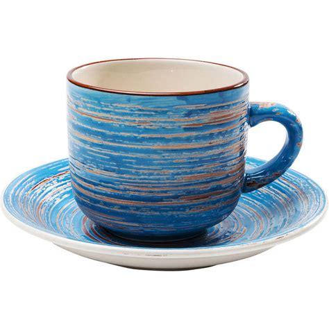 kare design mug coffee mug swirl blue 2 set kare design