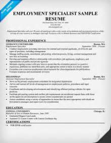 Employment Specialist Resume employment specialist resume resumecompanion resume sles across all industries