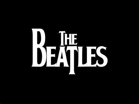 The Beatles Black Logo musiclipse a website about the best of the moment