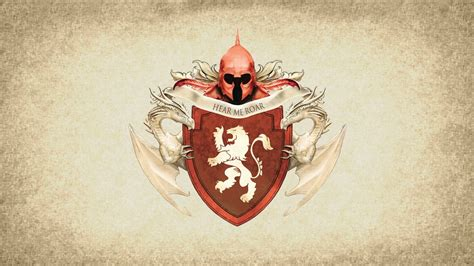 house lannister a song of ice and fire coat arms game thrones hear me roar