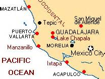 map mexico west coast mexico pacific coast cities