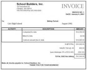 download construction invoice excel template invoice