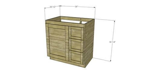 Vanity With Left Side Drawers by Build A Custom Bath Vanity Designs By Studio C