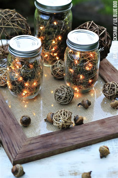 fall table decor jar firefly lanterns - Fall Table Decorations With Jars