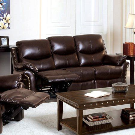 Leather Sofa Nailhead by Furniture Of America Norfolk Bonded Leather Sofa With