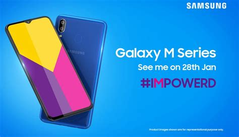 samsung galaxy m series smartphones with infinity u display launching in india on january 28 on
