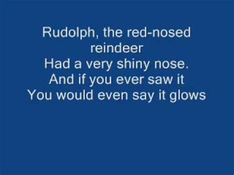 Rudolph The Nosed Reindeer Lyrics Like A Light Bulb by Rudolph The Nose Reindeer With Lyrics