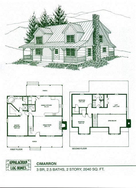 Free Log Home Floor Plans by Log Home Package Kits Log Cabin Kits Cimarron Model