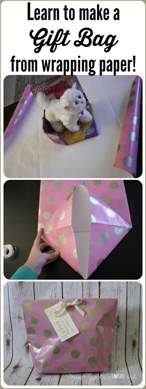 how to make a gift bag from wrapping paper designer trapped