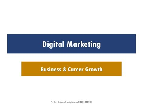 Mba Marketing Career Growth by Digital Marketing For Business And Career Growth