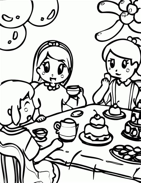 coloring page birthday party coloring pages birthday party coloring home