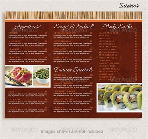 restaurant brochure templates 20 take out menu templates free sle exle format