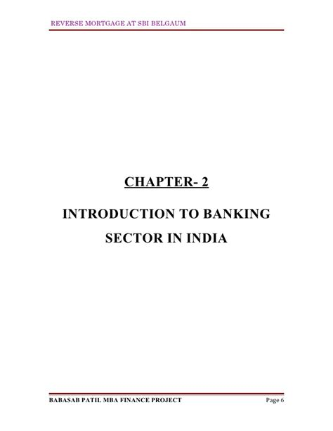 Mba Project On Merchant Banking In India by Mortgage At Sbi Mba Finance Project Report