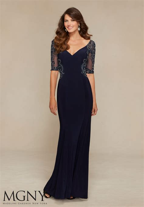 Of The Gowns by Jersey And Net Evening Dress Style 71306 Morilee
