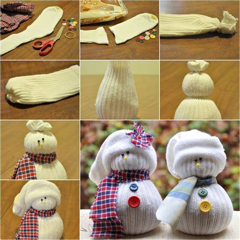 sock snowman directions how to diy sock snowman