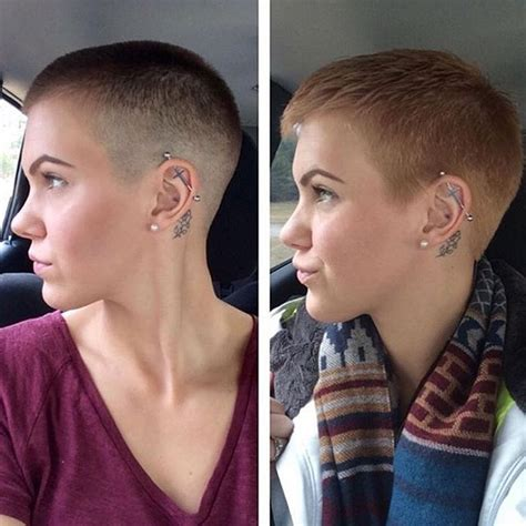 before and after fade haircuts on women 41 best images about hairstyles ftm on pinterest
