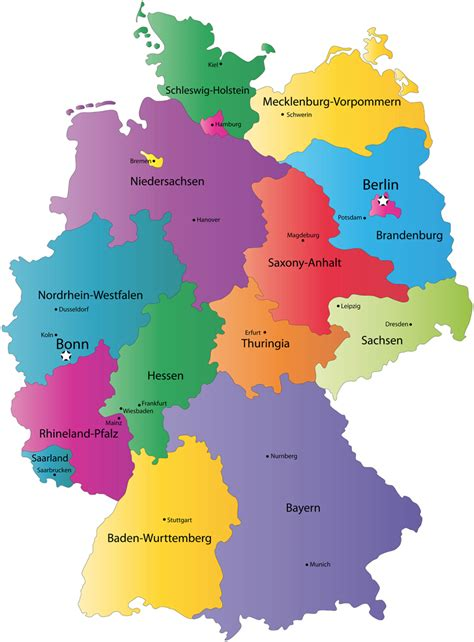 germany map states simple map of germany