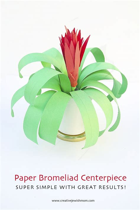 Paper From Plants - diy paper plant flowering bromeliad creative