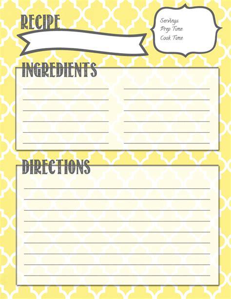 printable lemon recipes melanie gets married recipe binder printables
