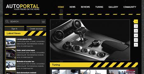 Gas In Veins Free Auto Portal Template Chocotemplates Automotive Website Templates
