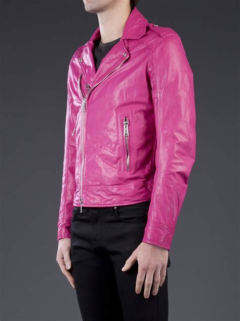 Parka Pink Mc T1310 lyst dsquared 178 motorcycle jacket in pink for