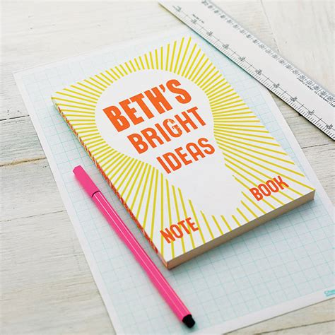 ideas to be realized a notebook books personalised bright ideas notebook by sukie