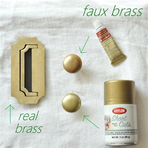 How To Spray Paint Brass Ls by Brass Hardware Polishing And Faking It Centsational