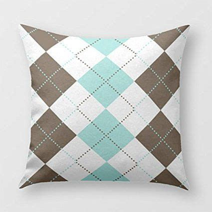 blue brown bedroom decor brown and teal blue checker patterns throw pillow cover for sofa or