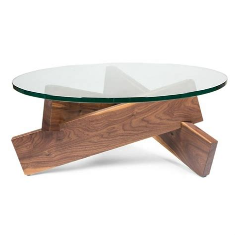 Tables Basses De Salon En Verre by Table Basse Design Verre Et Bois Pied Table Basse