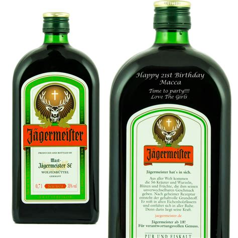 Personalised Jagermeister Herbal Liqueur At Prestige Drinks Jagermeister Label Template