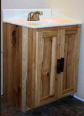 rustic hickory vanity � barn wood furniture rustic
