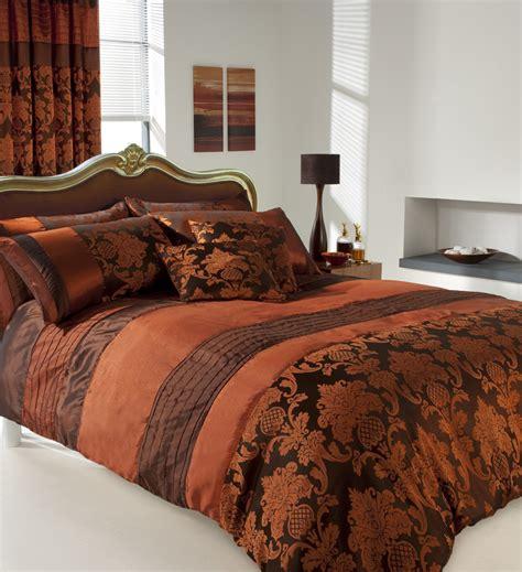 copper comforter nwt luxury copper silk soft printed bed linen duvet set