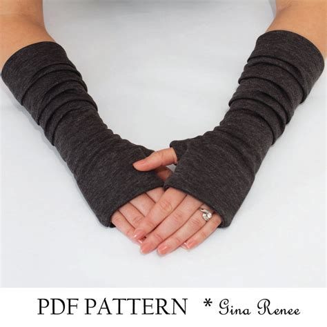 Pattern For Fingerless Gloves | fingerless gloves pattern with pleats pdf glove sewing